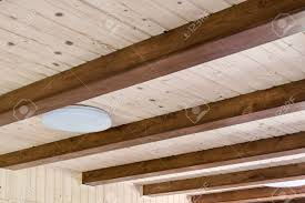 100 Rustic Ceiling Beams House Ceiling With Wide Wooden Beam Support Country Home