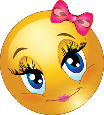 Cute Girl Smiley Faces Lovely Emoticon Royalty Emoji Clipart Girly