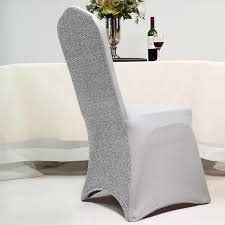 EFavorMart 40PCS Spandex Stretch Banquet Chair Cover With ... Silver Stretch Spandex Banquet Chair Cover Balsacircle 50 Pcs White Polyester Covers For Party Wedding Linens Decorations Dning Ceremony Reception Supplies Hunter Green 57 Lifetime Folding Fuchsia Free Shipping Whosale 100pcs Universal Arm With For Plastic Outdoor Slipcovers Ivory Your Champagne Slip Premium Quality Ruched Fashion Ebay Sponsored 10pcs Scuba