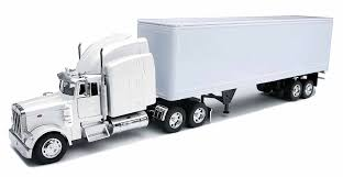 Amazon.com: Peterbilt 379 With Dry Van - All-White Toy Truck: New ...