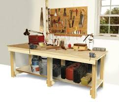 This Workbench Is Very Basic But When Building That Usually A Good Thing It Simple With An Open Storage Shelf On The Bottom