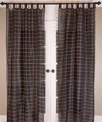 Striped Curtain Panels 96 by Jute Stripe Curtain Panel Black 96 Inch Check Back Soon Blinq