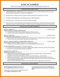 General Dentist Resumepediatric Resume Samples Dental Sample Template For Assistant