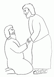 Bible Story Coloring Page Peter Heals A Crippled Man