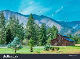 100 Stock Farm Montana Beautiful Scenic Barn On Photo Edit Now