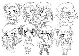 Chibi Girl Colouring Pages Free Coloring Cute For Kids 2