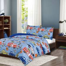 Crest Home Adore Twin 2 Pc Bedding Comforter Set, Boys Cars Trucks ...