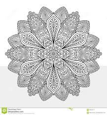 Royalty Free Vector Download Intricate Flower Coloring