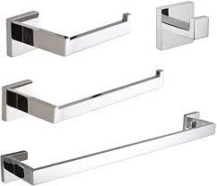velimax badezimmer hardware set edelstahl chrom 4 stück bad hardware zubehör wandhalterung handtuchhalter set poliert