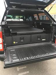 100 Truck Bed Motorcycle Lift Ford Ranger With Gearmate 226MM Twin Drawers Infill Pods