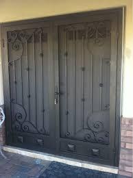 Double Door Security Screen Doors endearing patio security doors