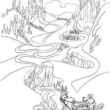 Anna In The Way Of Finding Elsa Coloring Page