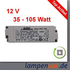 beleuchtung elektronischer transformator trg 105 20 105w 12v