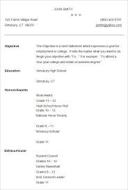 Resume Template For College Studen