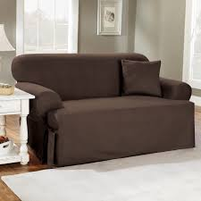 Sure Fit Stretch T Cushion Sofa Slipcover by Sure Fit Cotton Duck T Cushion Sofa Slipcover Walmart Com