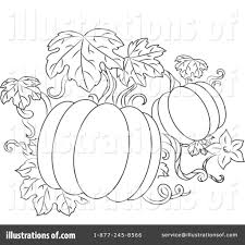 Royalty Free RF Pumpkins Clipart Illustration by Vector Tradition SM Stock Sample
