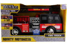 100 Tonka Mighty Motorized Fire Truck Real Sounds Flashing Lights