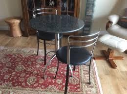 Wonderful John Lewis Granite Bistro Table Plus Two Matching Chairs In