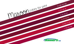 Maroon CMYK Colors For Printing Banners Bannerprinting Cmyk