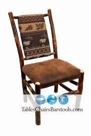 Rustic Amish Built Hickory Wood Restaurant Chairs