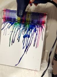Start Melting The Crayons With A Hairdryer Starting At Tip Of Crayon And Working Up As Wax Melts Move Hair Dryer Down Over