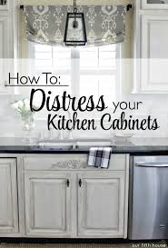 Distressed Kitchen Cabinets How To Distress Your