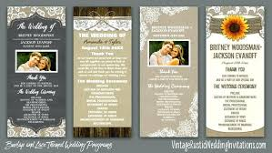 Custom Rustic Wedding Invitations Our New Lace