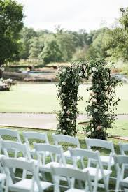 White Garden Chairs Ceremony Seating