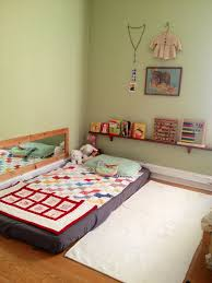 Twin Bed Floor For Toddler Montessori Nursery Furniture Baby