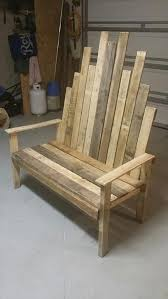 Recycled Pallet Sturdy Outdoor Bench