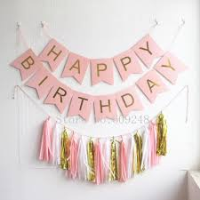 Pink And Gold Birthday Themes by Aliexpress Com Buy Light Pink Happy Birthday Party Decorations