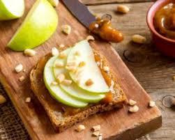 cuisine santé express recette de toasts santé express aux pommes et beurre de cacahuète
