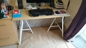 Ikea Linnmon Corner Desk Hack by Ikea Hack Two In One Pc U0026 Craft Desk 1 Creativity