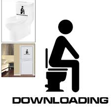 2015 new arrival funny bathroom entrance sign vinyl sticker for