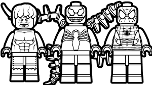 Lego Spiderman And Venom Hulk Coloring Book Pages Kids Fun Art