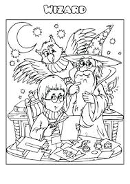 Wizard Coloring Book Template