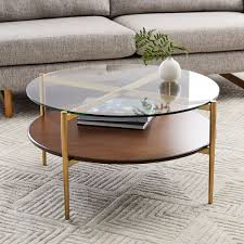 Mid Century Art Display Round Coffee Table