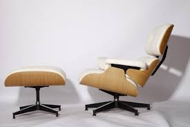 White Leather+white Oak Veneer Charles Eames Lounge Chair ... Bar Stool Eames Lounge Chair Wood Chair Png Clipart Free Table Ding Room Fniture Cartoon Charles Ray And Ottoman 1956 Moma Lounge Cream Walnut Stools All By Vitra Ltr Stool Design Quartz Caves White Polished Walnut Classic