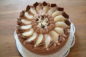birnen schoko sahne torte zuckerkuss