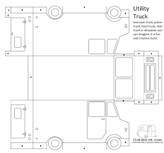 Paper Truck Template | Family Outdoor Adventures