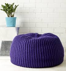 Bean Bag Bed Shark Tank by Furniture Knitting Patterns In The Loop Knitting