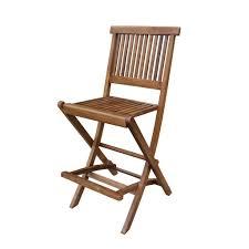 Ala Teak Outdoor Patio Bar Stool Seat Folding Chair