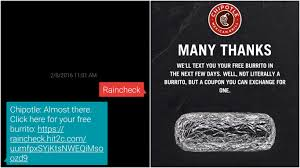 Chipotle Halloween Special Hours by Text This Number Right Now And Get Free Chipotle