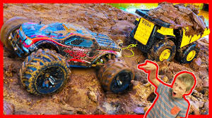 RC Monster Truck Tows Dump Truck In MUD - YouTube 100 Bigfoot Presents Meteor And The Mighty Monster Trucks Toys Truck Cars For Children Cartoon Vehicles Car With Friends Ambulance And Fire Walking Mashines Challenge 3d Teaching Collection Vol 1 Learn Colors Colours Adventures Tow Excavator The Episode 16 Tv Show Monster School Bus Youtube