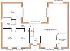 plan maison plain pied 3 chambres en l maison individuelle c t a de plain pied avec 3 chambres 100 m