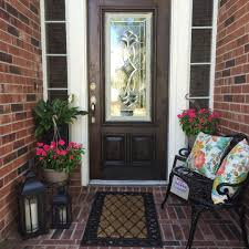 Spring Outdoor Decorating Small Front Porch