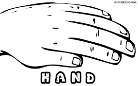 Left Hand Coloring Page
