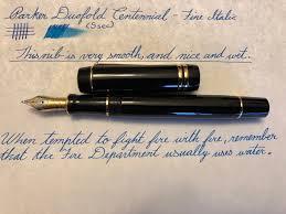 Parker Duofold Centennial With A Fine Italic Nib