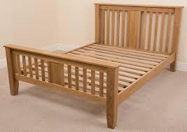 Boston 6ft Solid Oak Super King size bed Frame 222 x 194 x 110 cm