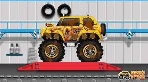 100 Monster Truck Videos Kids Lovely Car Wash Toy Toys